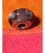 Pandora Murano Two Tone Purple Flowers Charm - $22.00