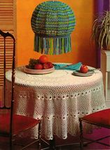 Vtg Crochet Afghan Bathmat Bedspread Shawl Tablecloth Hoodie Tunic Patterns - $12.99