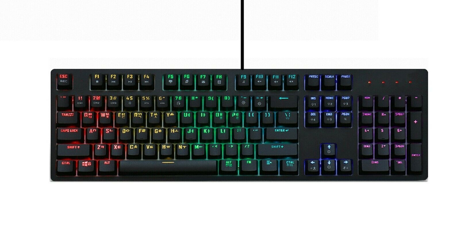 Micronics Manic X30 Mechanical Gaming Keyboard English Korean USB (Blue Switch)
