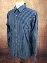 American Eagle Outfitters Vintage Fit 100% Cotton Blue Stripe Shirt Men's L - $15.83
