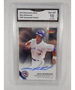 2015 Bowman's Best #B15-MP Max Pentecost Auto Rookie GMA Graded Gem 10 - $22.72