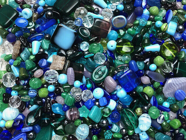 Primary image for Czech Glass Beads 1lb Bag Of Assorted Shapes And Sizes: Lush Garden