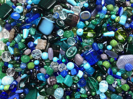 Czech Glass Beads 1lb Bag Of Assorted Shapes And Sizes: Lush Garden - $34.64