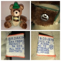 VTG 70s TEDDY BEAR Wind Up Musical Plush R Dakin Lederhosen Yodel Nature Babies - $51.65