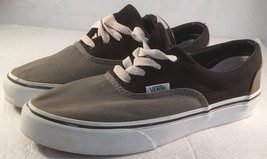 Vans Kids Lo Pro Canvas Shoes Black & Gray Youth 4 - $22.43