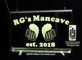 Personalized Beer Mug Bar Sign, Man Cave Sign, Game Room Sign - $94.05+