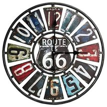 Taylor Precision Products Route 66 License Plate Design Metal Clock (22-... - £43.84 GBP