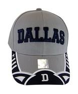 Dallas Texas Men's Stars & Stripes Adjustable Baseball Cap (Script Gray/... - $12.95