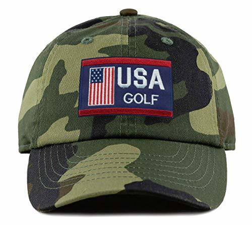 USA Golf Hat - Adjustable Camo Dad Cap Unisex Cap - America Olympics Pride