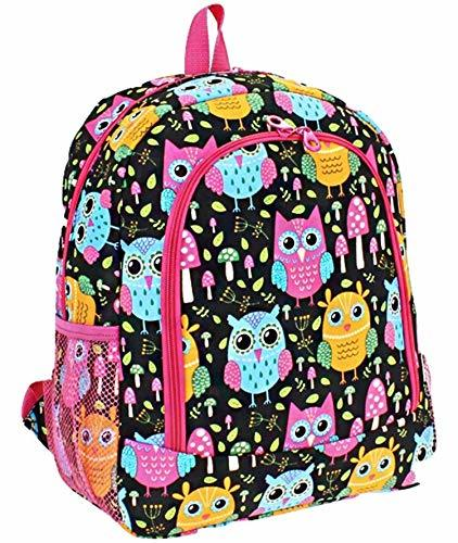 "Owl Mushroom Print 16"" School Backpack"