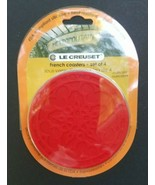 LE CREUSET SILICONE DRINK FRENCH COASTERS-SET OF 4 - $22.79