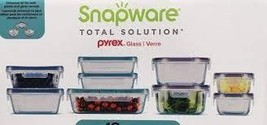 Snapware 18-piece Pyrex Glass Food Storage Set Purple & Blue - $52.98