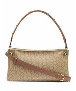 Calvin Klein Raya Signature Demi Shoulder Bag, TEXTURED KHAKI/BROWN - $69.29