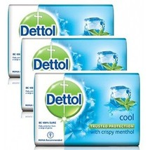 [3 Pack] Dettol Cool with Crispy Menthol Soap 110g  - $13.50