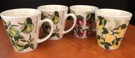 Westwood Apples Red Golden Delicious Granny Smith 4 Coffee Mugs Cups lb - $20.86