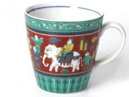 Mug cup Kutani yaki ware coffee tea soup cup taste of Matori Mokube from... - $37.44