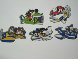 5  Disney Airplane pins  All are Authentic Mickey Goofy Donald  etc - $59.99