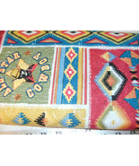 1 Yd Western Cowboy Quilting Fabric Patch Southwestern Rodeo - $7.94