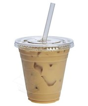 [100 Sets - 12 oz.] Plastic Cups With Flat Lids - $26.55