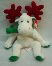 "TY Beanie Baby MOOSLETOE WHITE CHRISTMAS MOOSE 9"" STUFFED ANIMAL Toy NEW - $14.85"