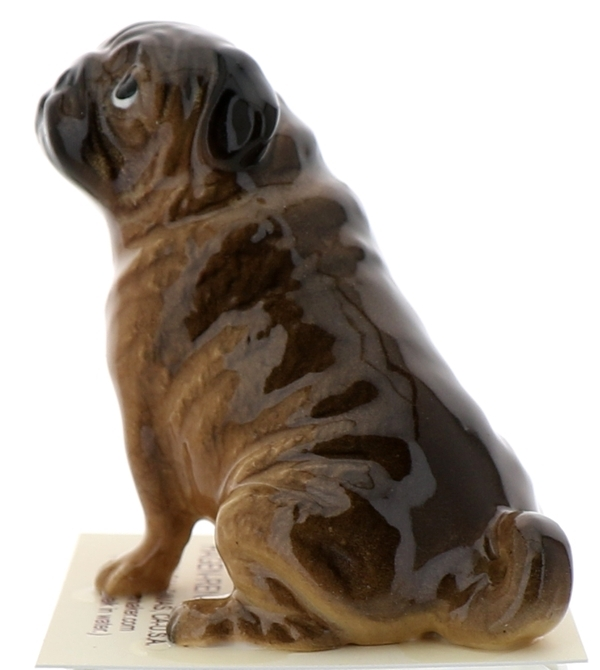 Hagen-Renaker Miniature Ceramic Dog Figurine Pug Fawn Pedigree Line