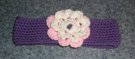 Brand New Crocheted Purple Flower Design Dog Collar LARGE For Dog Rescue Charity - $9.99