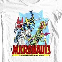Micronauts tee shirt 80's nostalgic comics retro toys white t-shirt 100% cotton image 1