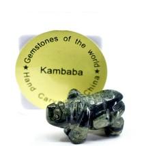 Kambaba Jasper Gemstone Miniature Rhinoceros Rhino Figurine Hand Carved in China image 1