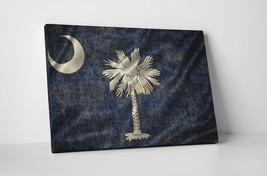 Vintage South Carolina State Flag Gallery Wrapped Canvas Wall Art - $44.50+