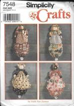 Vintage Simplicity #7548 Faith Van Zanten Plastic Bag Holder (4 Styles) ... - $10.88
