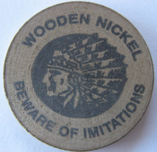"""Wooden Nickel From: """"White Mountain Trading Post"""" - (sku#4982) - $8.25"""