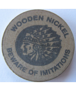 """Wooden Nickel From: """"White Mountain Trading Post"""" - (sku#4982) - $7.50"""