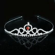 Elegant Bridal Silver Color Hair Crown Wedding Tiara for Girl Rhinestone... - £6.42 GBP