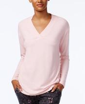 Alfani V-Neck Pajama Top in Pink, XS - $17.81