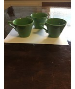 Three Vintage Fiesta Harlequin Tea Cups, 2 perfect, 1 chipped - $25.00