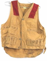 VTG Isco Hunting Fishing Vest Mens Heavy Canvas Up to 42 Chest - $34.47