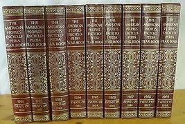 American Peoples Encyclopedia 9 Yearbooks 1960s Decorative Books Burgund... - $58.52
