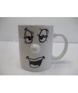 White Ceramic Sleepy Face Coffee Or Tea Mug Holds 325ml Liquid Manufatur... - $8.99