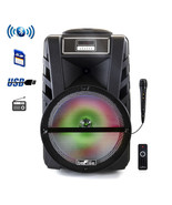 beFree Sound 12 Inch Bluetooth Rechargeable Portable PA Party Speaker wi... - $118.78