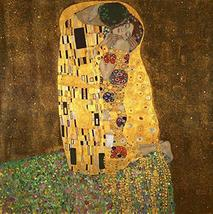Art - The Kiss by Gustav Klimt Famous Oil Paintings Reproductions Gallery Wrappe - $59.95