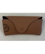 "VTG RAY-BAN Tan Brown Leather Eye Glass Case Snap Closure 6"" x 2 3/4"" x ... - $14.01"