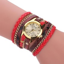 MINHIN Brand Quartz Watches Women Gold Geneva Bracelet Wristwatch Ladies Dress W - $17.24