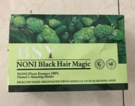 2 Boxes BSY Noni Black Hair Magic Color Dye 100% Natural Herbal Essence Shampoo  - $55.00
