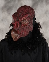 Black Bird Mask Vulture Animal Lifelike Feathers Scary Halloween Costume... - $99.42 CAD