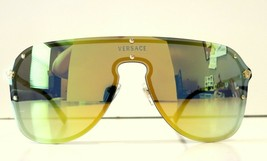 Versace Shield Pilot VE2180 Yellow Lenses Sunglasses New and Authentic - $189.95