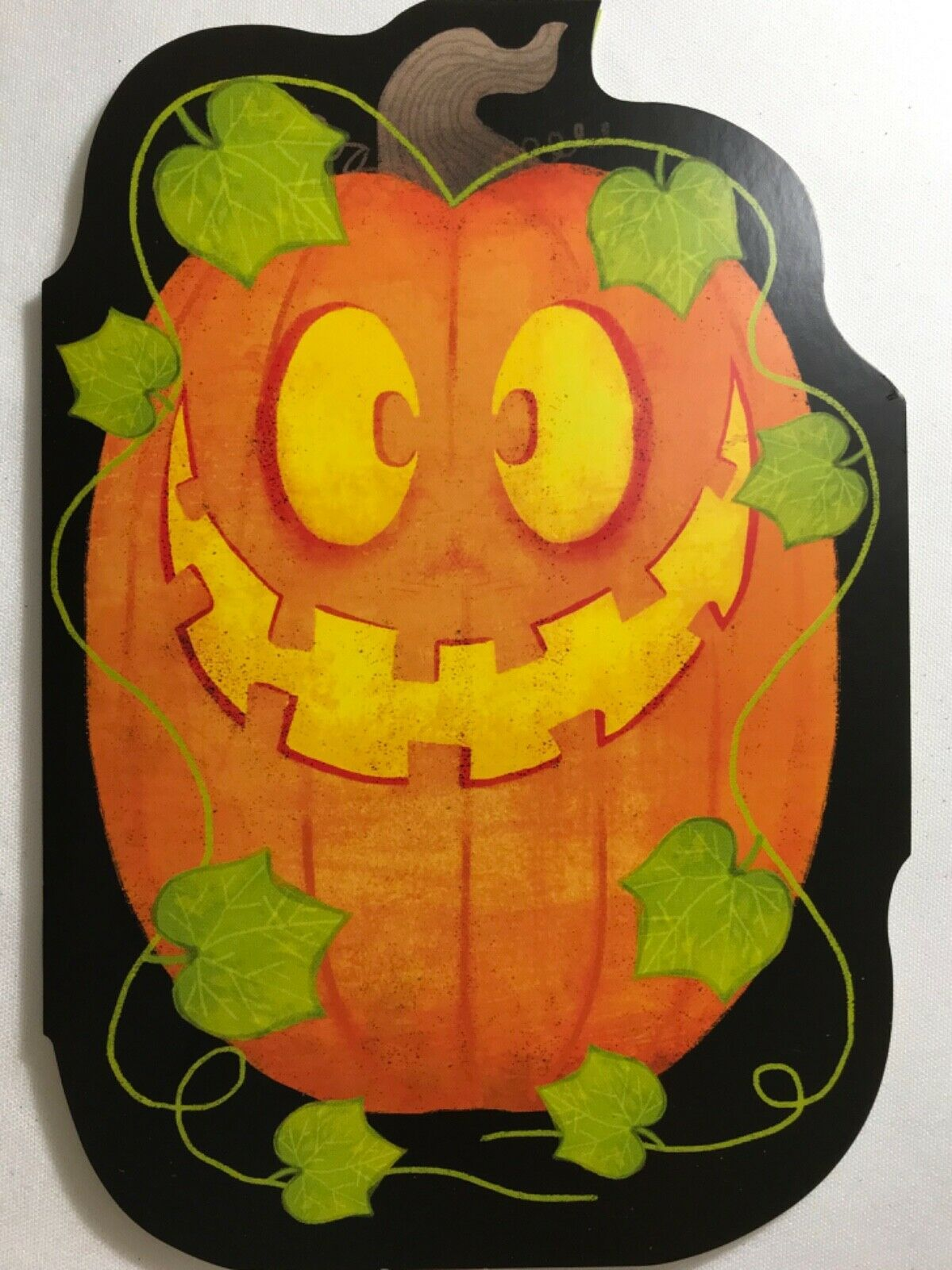 Primary image for Halloween Card w/ a pumpkin w/ press button for sound/song