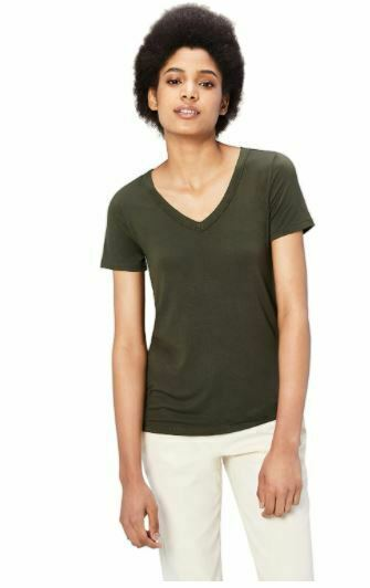 Daily Ritual Women's Jersey Short-Sleeve V-Neck T-Shirt, Forest Green XS