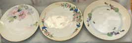 """Lot of 3 Collectible 6.5"""" Nippon Hand Painted Plates - $23.22"""