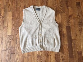 Vintage Men's Jantzen Sweater Vest Cream Beige Size L - $18.68