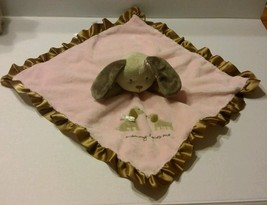 Carters Pink Brown Mommy Loves Me Puppy Dog Security Blanket Plush Lovey... - $20.41 CAD